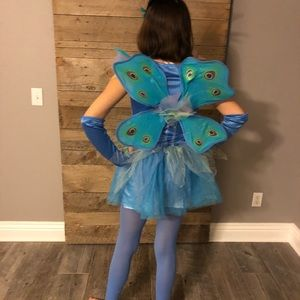 Peacock Princess Costume + Accessory  L 12-14